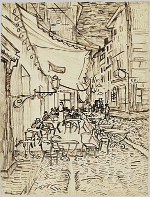Vincent van Gogh (1853-1890) 'The Café Terrace on the Place du Forum, Arles, at Night.' Arles,September 1888. Dallas Museum of Art, Dallas, United States.