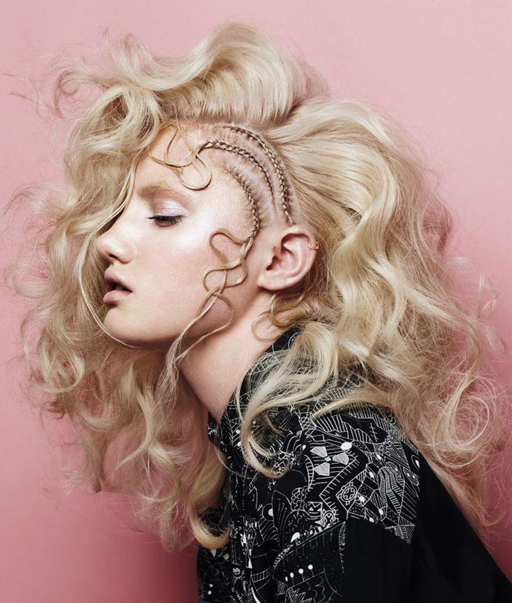 Gorgeous braided style by Scott Jordan. #hotonbeauty hotonbeauty.com