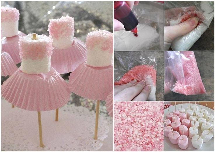 Cake pops bailarinas