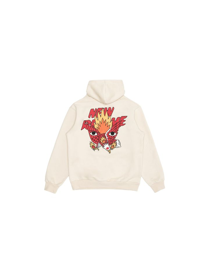 Ricardo Cavolo X Atelier New Regime Guardian Eagle Hoodie (Smoke Grey) / Made of soft-touch cotton fleece, this hoodie features the Guardian Eagle collab artwork embroidery at the back, depicting the strength, freedom and inspiration that the eagle is known to represent. #ricardocavolo