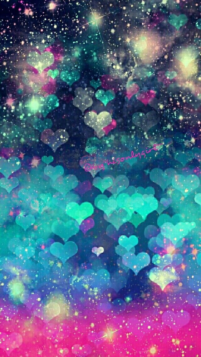 Heart galaxy iPhone/Android wallpaper I created for the app CocoPPa.