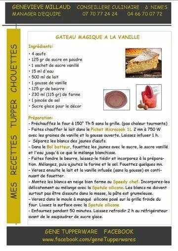 Recette tupperware cake sale