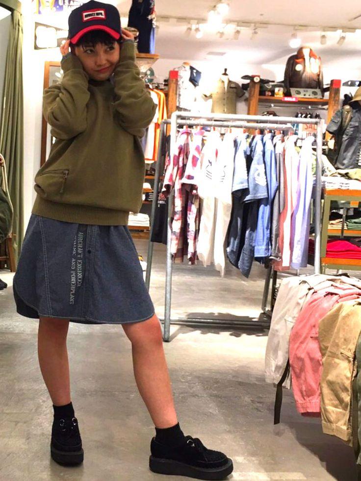 AVIREX梅田店/NAVY CREW NECK SWEATER メンズライク!でも女の子らしさのこしつつ◎