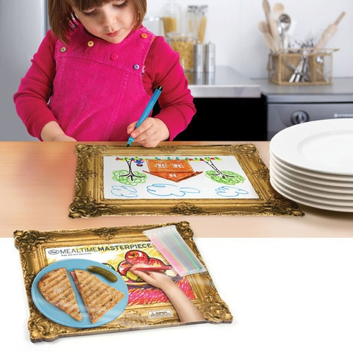 Keep them happy and entertained :-) Placemats to draw on.