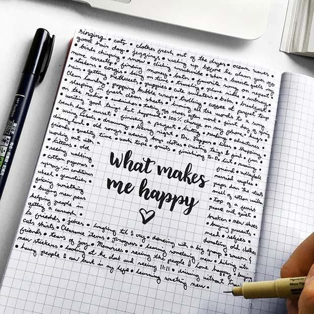 23 Bullet Journal Spread Ideas You'll Want to Copy: #8. HAPPINESS BULLET JOURN…