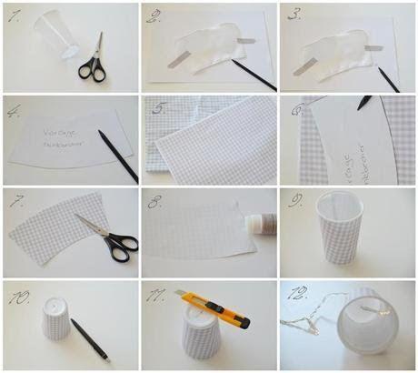 Fancy DIY Lichterkette mit Bechern
