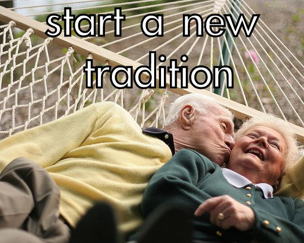 Start a random, new tradition together. | The Couples Bucket List You'll Actually Want To Do