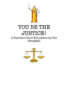 Bring the Supreme Court and Constitutional Amendments to life by students role playing the Supreme Court justices and deciding on real-life Supreme Court cases. Students read the case, discuss in groups and write their opinion on the case on how the court should vote.