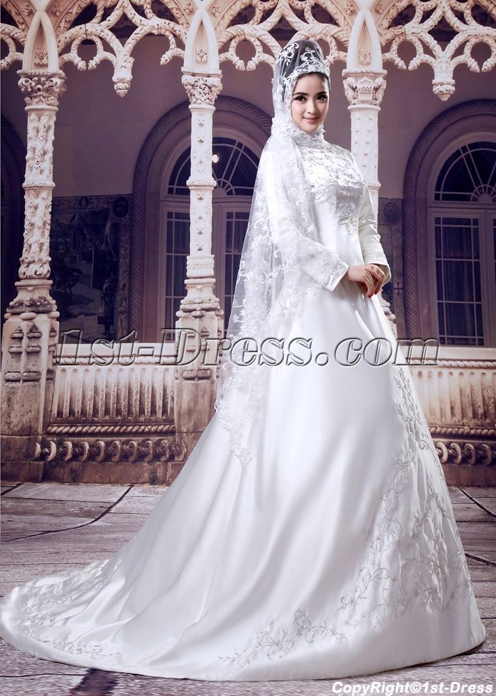 7 best Muslim Bridal Gowns images on Pinterest   Bridal gowns ...