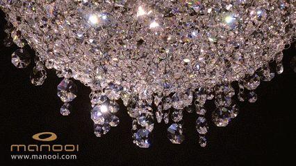 Iceberg crystal chandelier #Manooi #Chandelier #CrystalChandelier #Design #Lighting #Iceberg #luxury #furniture
