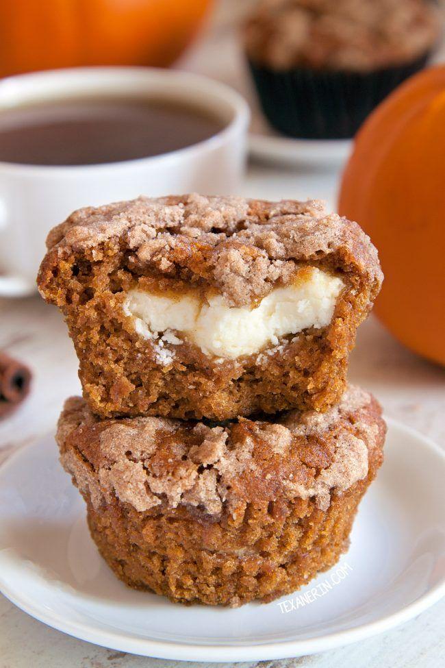 Pumpkin Cream Cheese Muffins (gluten-free, whole grain, all-purpose ...