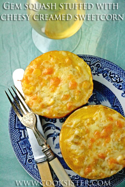South African gem squash with a cheesy, spicy creamed sweetcorn filling - just like grandma used to make!!
