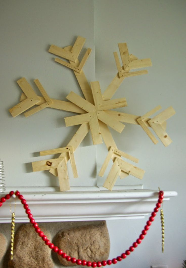 Our house, now a home: DIY wood snowflakes