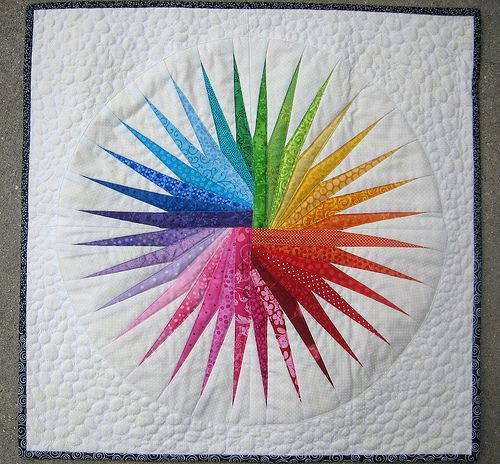 Wow!  Why are all these amazing quilts paper pieced?  I might have to bite the bullet and try it again!