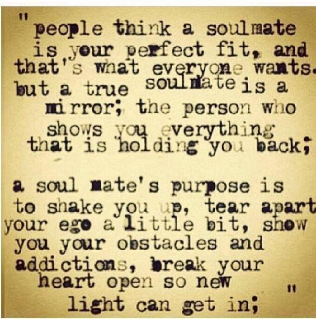 Soulmate love relationship quote For more quotes