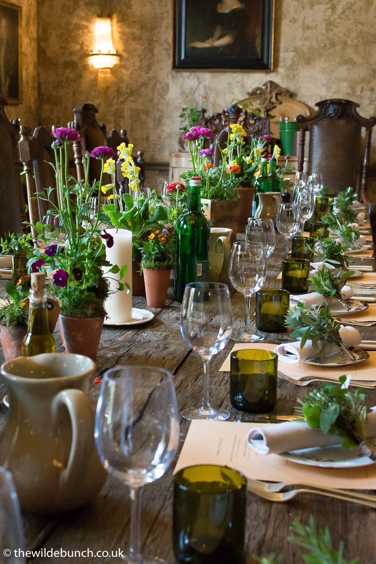 Our latest Rustic design for 2017. Taking Rustic chic to the levels of fine dining for the private dinner party of a VIP client at The Pig restaurant near Bath. Stripping design back to basics in antique terracotta pots. This would work so well in the stone barn wedding venues of the Cotswolds and Somerset. The Wilde Bunch  pushing the boundaries of Rustic design at venues like Kingscote Barn and Priston Mill. Watch this space for more.