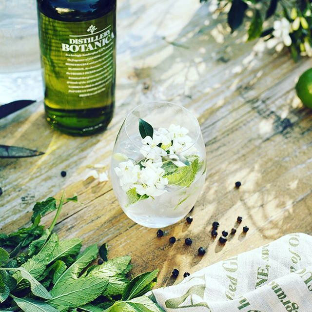 Murraya flowers picked fresh in a G&T cause a delicate assault on the senses. In a good way. #gardengrown #gin #ginforever #gingin