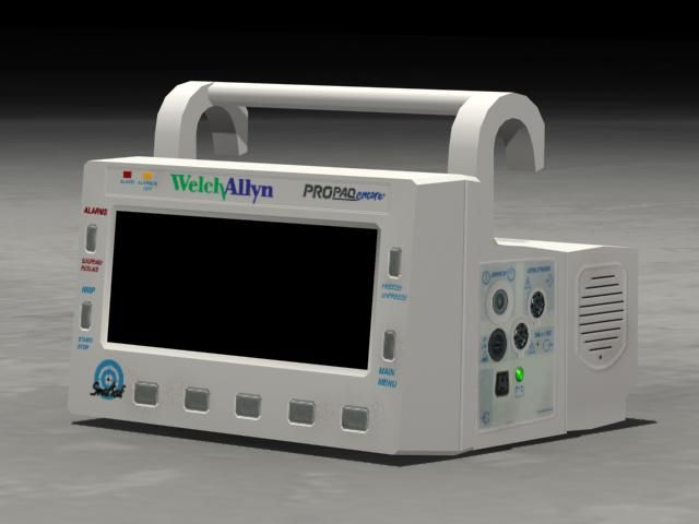 Low poly model of a patient monitor - Diane Wallace 2005