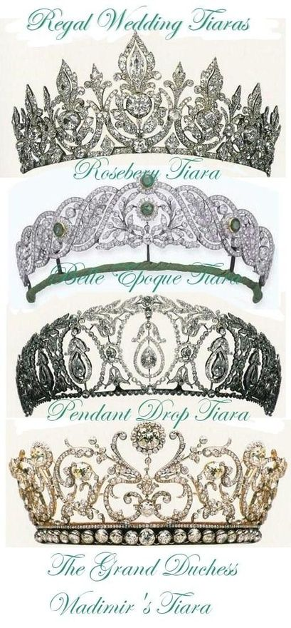 tiaras!...I like the bottom one...sadly no place to wear it and I can't get it on QVC so that's that!
