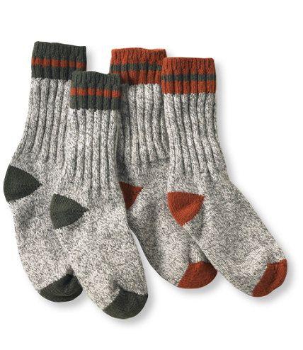 L.L.Bean Merino Wool Ragg Socks 2-pack, $18.95 - Free Shipping