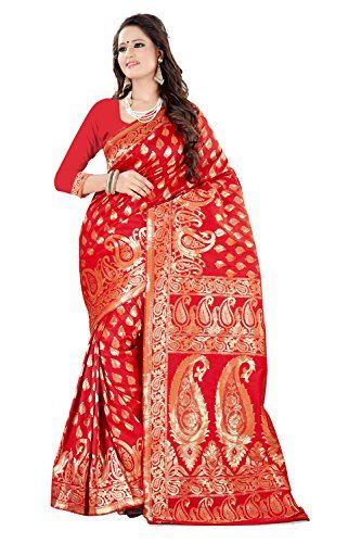 Shree Sanskruti Womens Saree with Blouse Piece Sarees (Sweetyred _Red _Free Size) - http://weddingcollections.co.in/product/shree-sanskruti-womens-saree-with-blouse-piece-sarees-sweetyred-_red-_free-size/