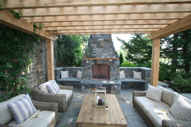 Pergola Patio Ideas : Patio with fireplace and pergola  Architectural Design  Pinterest