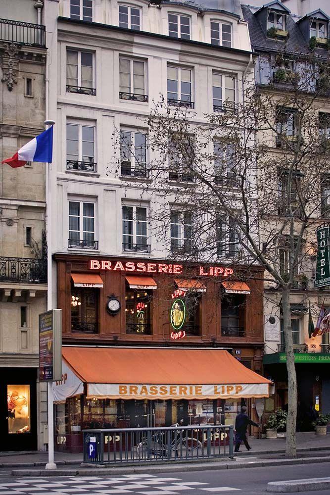 Rita Crane Photography: Paris / Historic cafe / brasserie / bistro / restaurant / Latin Quarter / Left Bank / Brasserie Lipp, Paris   Flickr - Photo Sharing!  OUI !