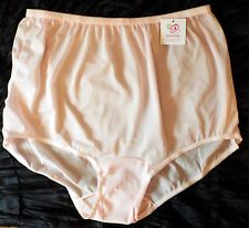 Details about Plus-Sizes 9-12 Double-Layer Nylon-Crotch Panties SofterSilk Made in USA NEW