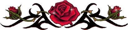 tribal rose tattoos