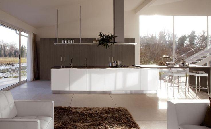 Magnolia Wandfarbe für die minimalistische Küche | Küche ...