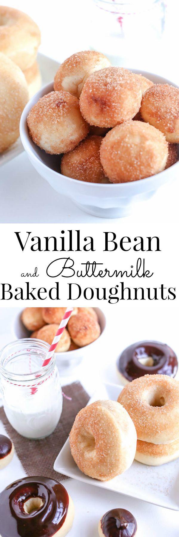 Vanilla Bean and Buttermilk Baked Doughnuts *No Doughnut Pan Needed | Vanilla And Bean