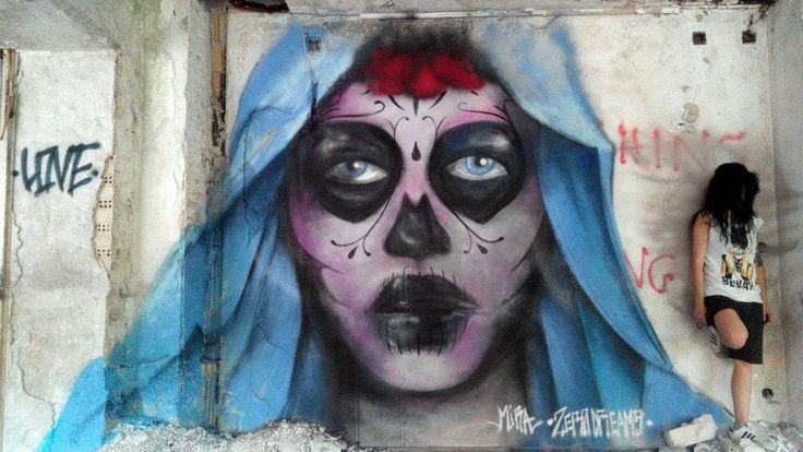 Day of the dead/ mural/ Spray paint