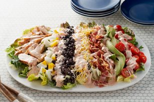 Southwestern Cobb Salad recipe. This is so yummy. I've made it before.