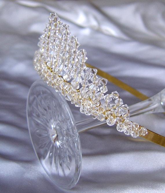 Beautiful swarovski crystal ANNE tiara