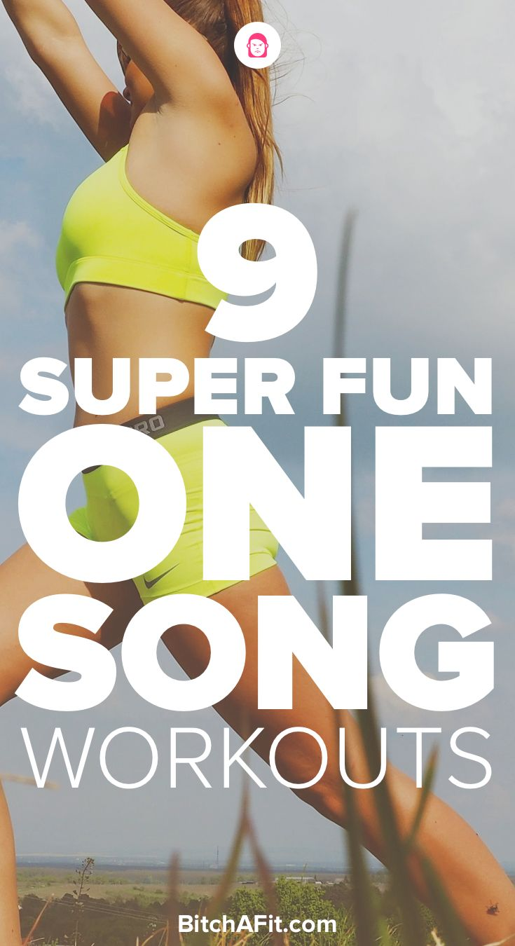 Working out to music is the best. Here are 9 one-song workouts that you can do to help you lose weight, burn fat, and feel great.