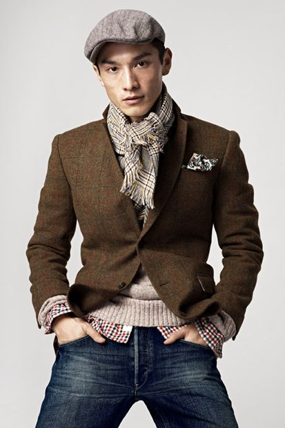 Great textures and tones  Men style