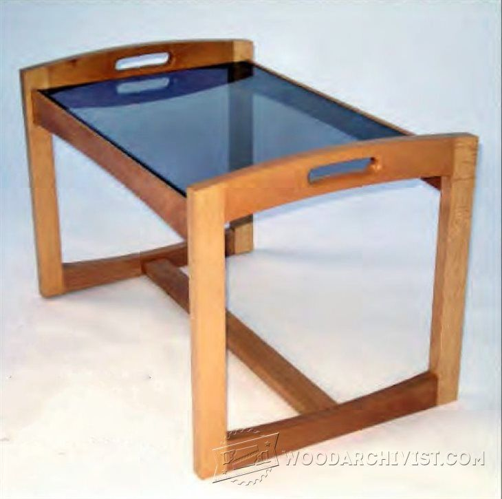 #1082 Glass Top Coffee Table Plans