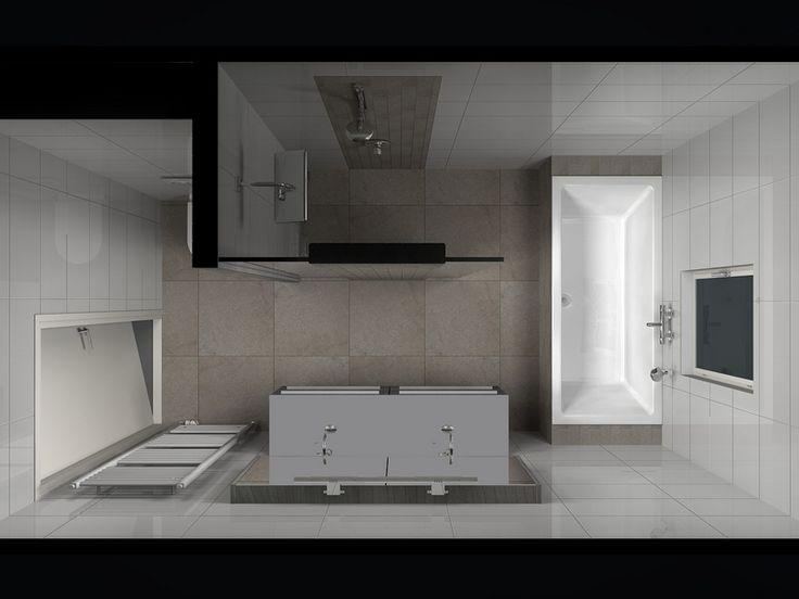 17 beste idee n over badkamer inrichting op pinterest donkere badkamers modern - Idee van interieurontwerp ...