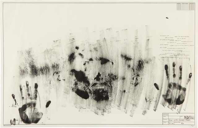 Jasper Johns, Skin with O'Hara Poem, 1963-1965. Lithograph, 22 × 34 in, 55.9 × 86.4 cm. Edition 30 + 8AP.