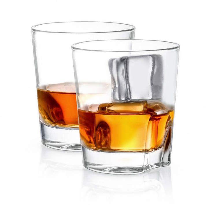 Joyjolt Carina Old Fashioned Whiskey Glasses Set Of 2 Whiskey