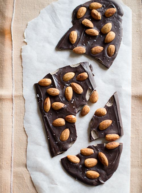 Dark Chocolate Almond Bark | White On Rice Couple