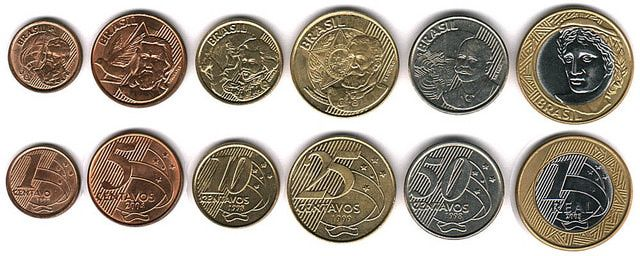 World Coins - Money Systems Around the World and the Coins in Circulation: Brazilian Money - Brazil Coins in Circulation