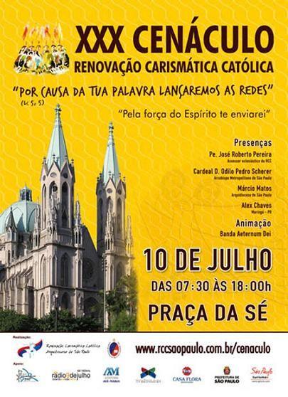 """O marco zero do município de São Paulo e um dos locais mais conhecidos por seus acontecimentos históricos, a Praça da Sé foi o local escolhido pela Renovação Carismática Católica (RCC) da Arquidiocese de São Paulo para celebrar o XXX Cenáculo no próximo dia 10 de julho. Um dos encontros mais importantes da RCC chega...<br /><a class=""""more-link"""" href=""""https://catracalivre.com.br/geral/urbanidade/barato/30%c2%b0-cenaculo-2011-alegra-te/"""">Continue lendo »</a>"""