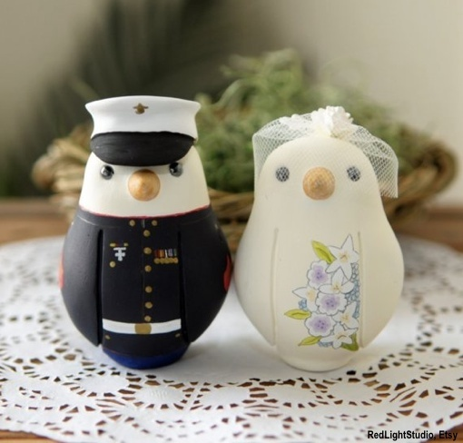 LOVE these military love birds!