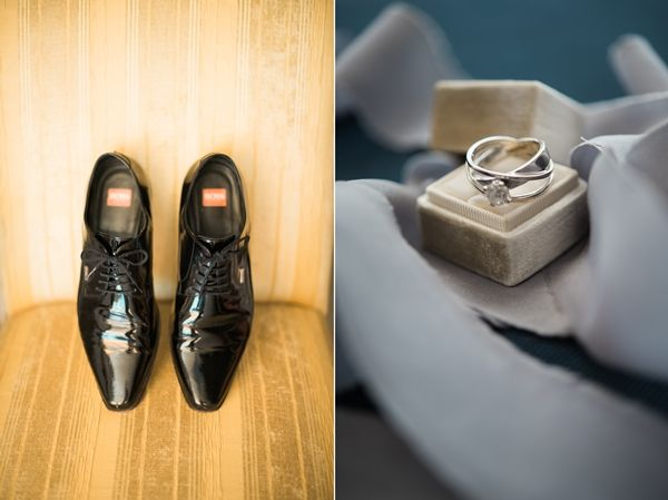 Classic wedding details, groom's shoes | Classy destination wedding