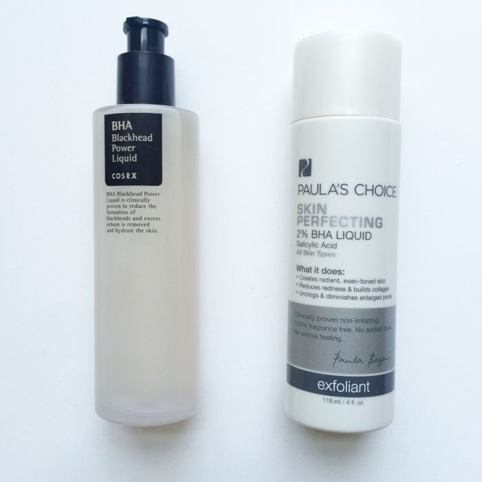 Cosrx BHA Blackhead Power Liquid vs. Paula's Choice Skin Perfecting 2% BHA Liquid Exfoliant