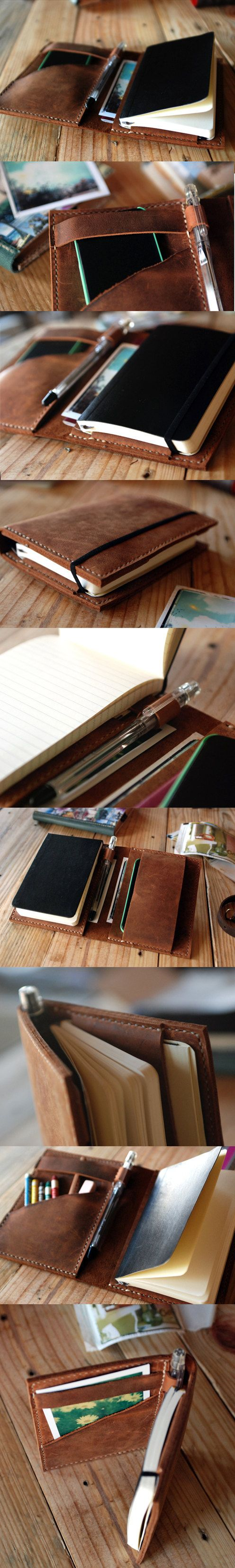 Moleskine cover Agenda leather cover by JustWanderlustShop