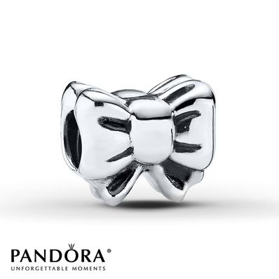 The perfect gift begins with a bow in this 12 Days of Christmas sterling silver charm from the Holiday 2013 collection by PANDORA. Style # 791204.