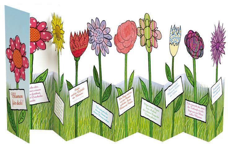 Für extra viel Sommer, Sonne, Blumenwiese auf dem Schreibtisch - eine supersüße Grußkarte zum Aufstellen, zum #Geburtstag, #Muttertag oder einfach nur so als Geschenk für die liebe #Freundin