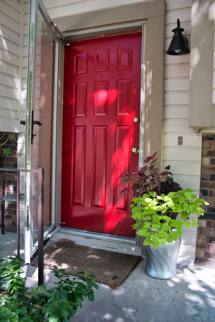 Front door makeover front doors larson storm doors and for Front door with storm door